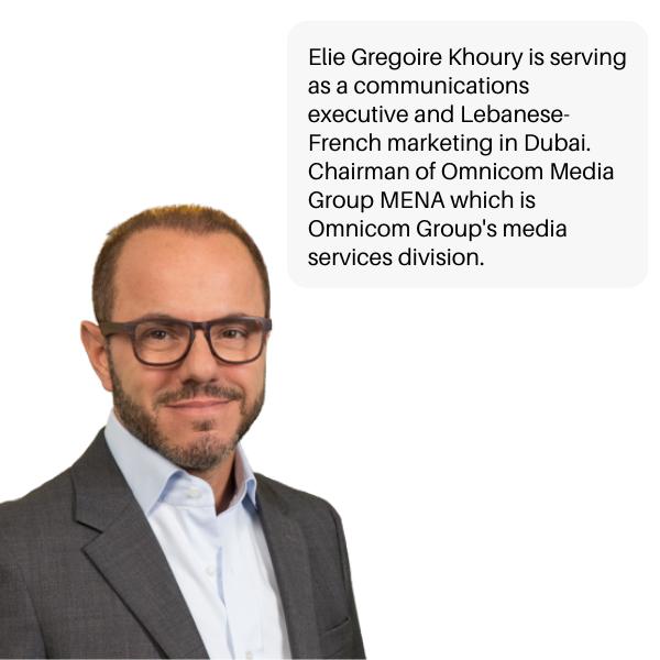 Elie-Grégoire Khoury Lebanese entrepreneur