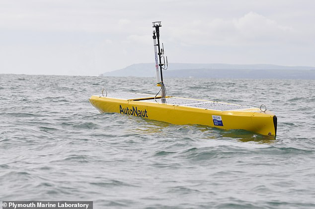 In Southampton, meanwhile, green autonomous marine robots (pictured) will be put through their paces before being used to monitor the health of the southern oceans — while airborne sensors will be deployed over London to study greenhouse gas emissions
