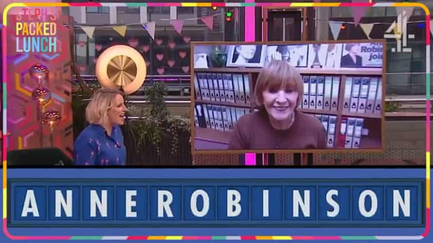 Anne Robinson is unveiled as the first female host of Countdown.