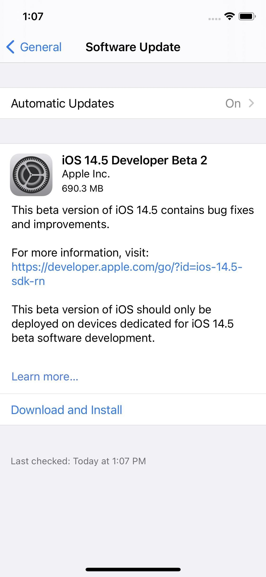 Apple Releases iOS 14.5 Developer Beta 2 for iPhone, Adds New Microphone Privacy Feature for Certain iPads