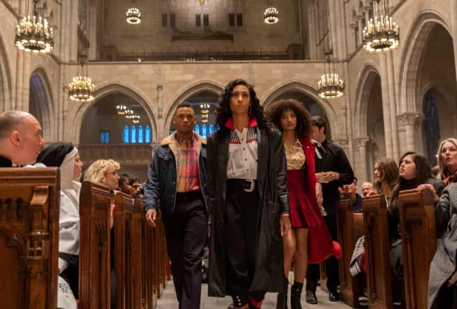Ryan Jamaal Swain, MJ Rodriguez and Indya Moore in Acting Up, Pose, season two.