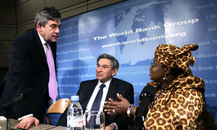 Gordon Brown, left, pictured with Ngozi Okonjo-Iweala, right, in 2006