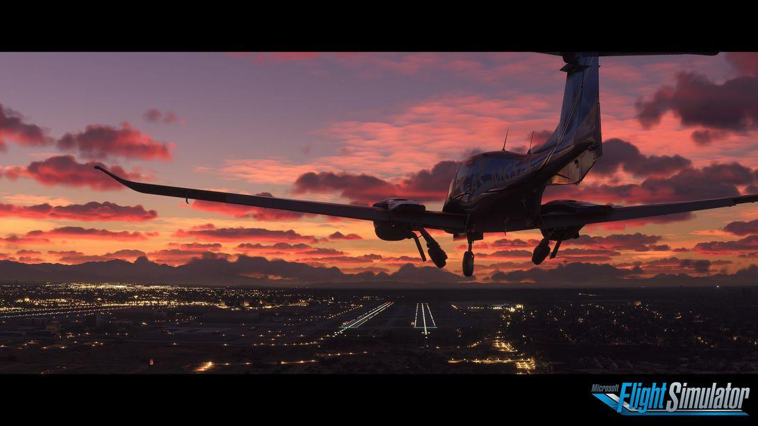 flight-simulator-e3-screenshot-sunset-logo