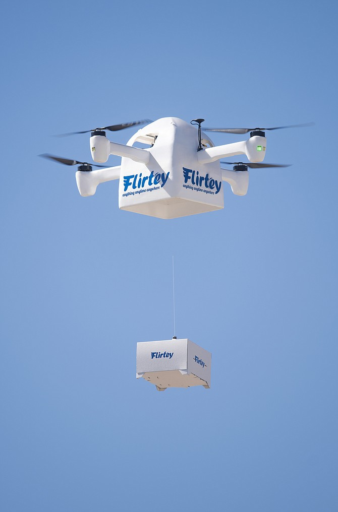 The Flirtey Eagle delivery drone.