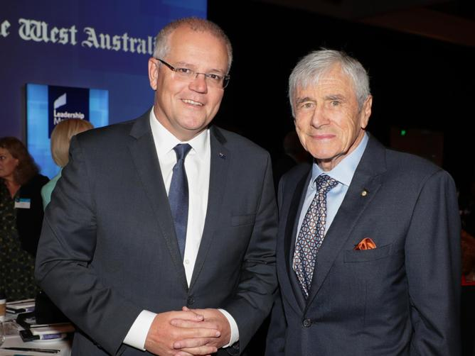 Scott Morrison and Seven West Media Chairman Kerry Stokes.