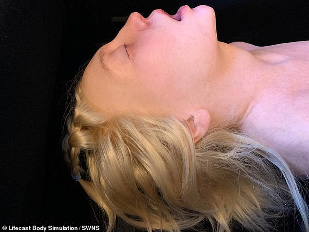 One of the manikinscreated by Lifecast Body Simulation - a company that creates medical-grade manikins to simulate real-life patients in the training of medical staff