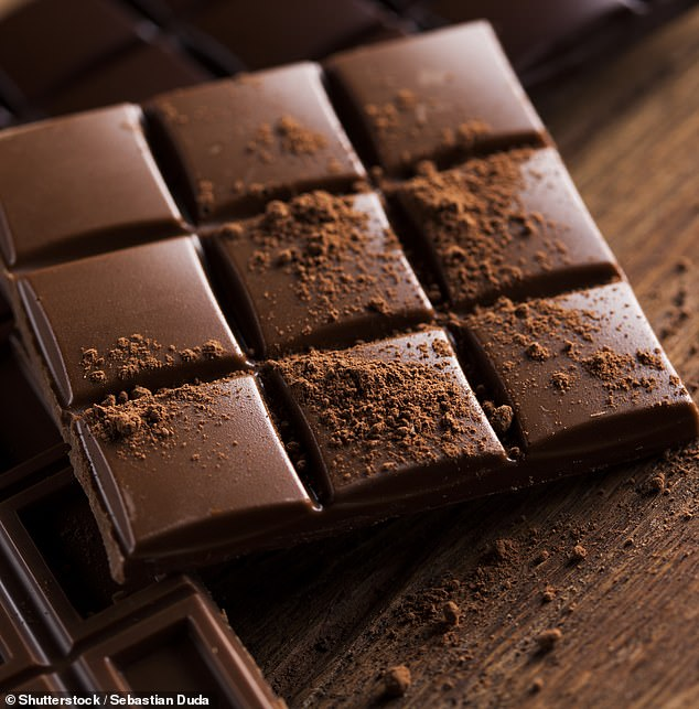 Dark chocolate (pictured) is a source of flavan-3-ols, compounds which are known to boost health