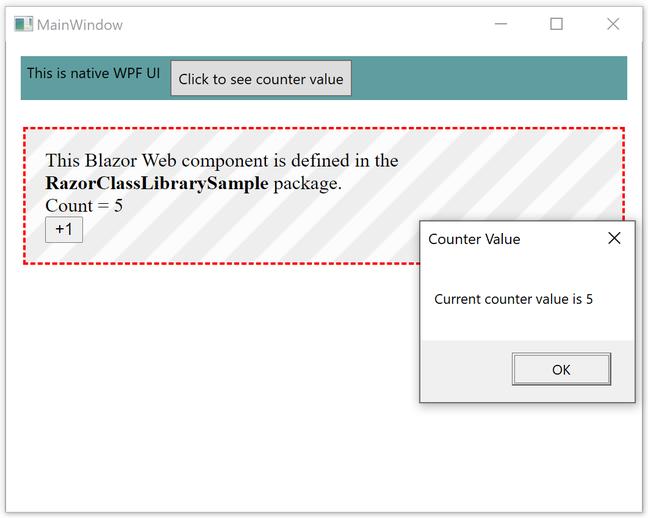 An 'island of Blazor' in a WPF application