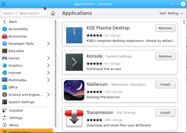 The Discover software manager will need adapting before it will work with Kenoite