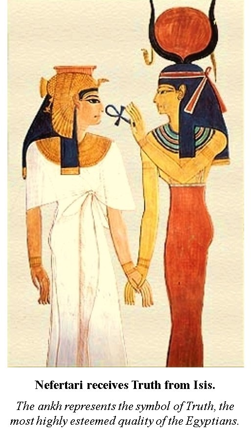 Nefertari receives truth from Isis.