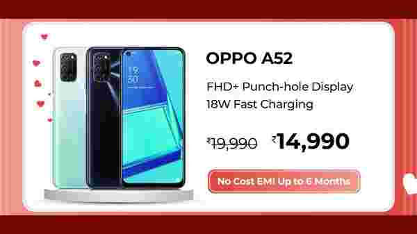 25% Off On Oppo A52