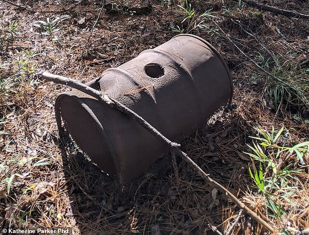 Researchers found barrels, cinderblocks, a garden hose and other artifacts from a 1920s moonshine operation.