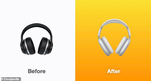 Once displayed as the bud of an iPhone headphone, the headphone emoji emoji has been shown more recently as a generic over-ear headphone. In iOS 14.5, this changes to what appears to be Apple's latest AirPod Max