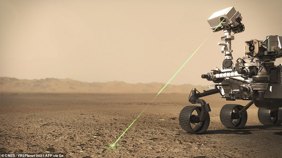 NASA's Perseverance rover is currently speeding through space at 47 miles per hour and is some 1,000 miles from reaching Mars. It is equipped with the latest technology, including lasers, to help it probe the Martian soil