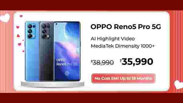 8% Off On OPPO Reno5 Pro 5G