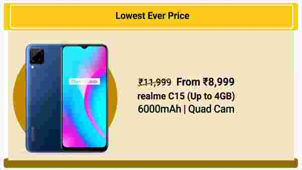 25% Off On Realme C15