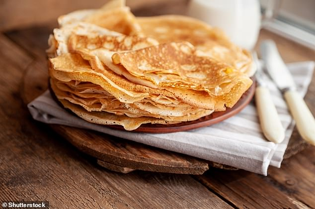 Pictured, the thinner English-style pancakes. The AI's recipe is specific to American-style pancakes, which are smaller but thicker