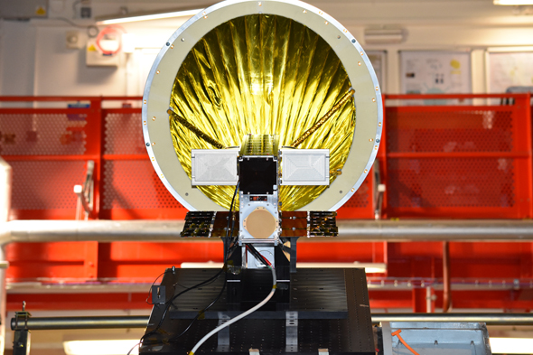 NSLComm's nanosatellites' dishes retain the ability to pop up in space cutting down on size and cost