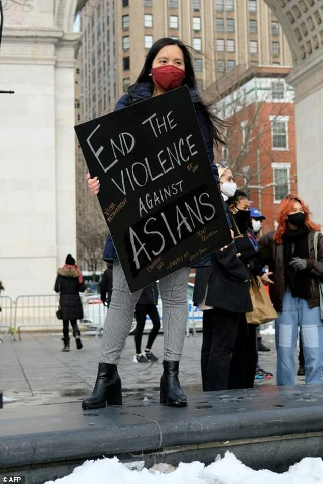 """Reports of attacks, primarily against Asian-American elders, have spiked in early 2021 - fuelled, activists believe, by talk of the """"Chinese virus"""" by former president Donald Trump and others"""