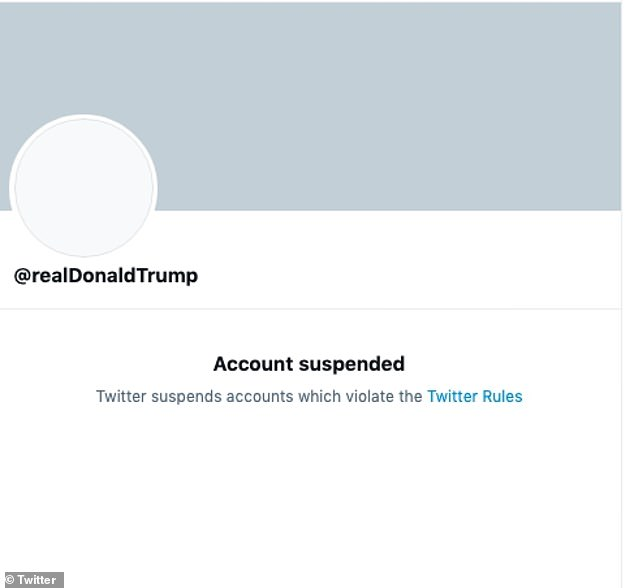The Twitter account of Donald Trump on was permanently suspended in January. Twitter said the decision to do so was due to the risk of 'further incitement of violence' after theu00A0storming of the United States Capitol on January 6