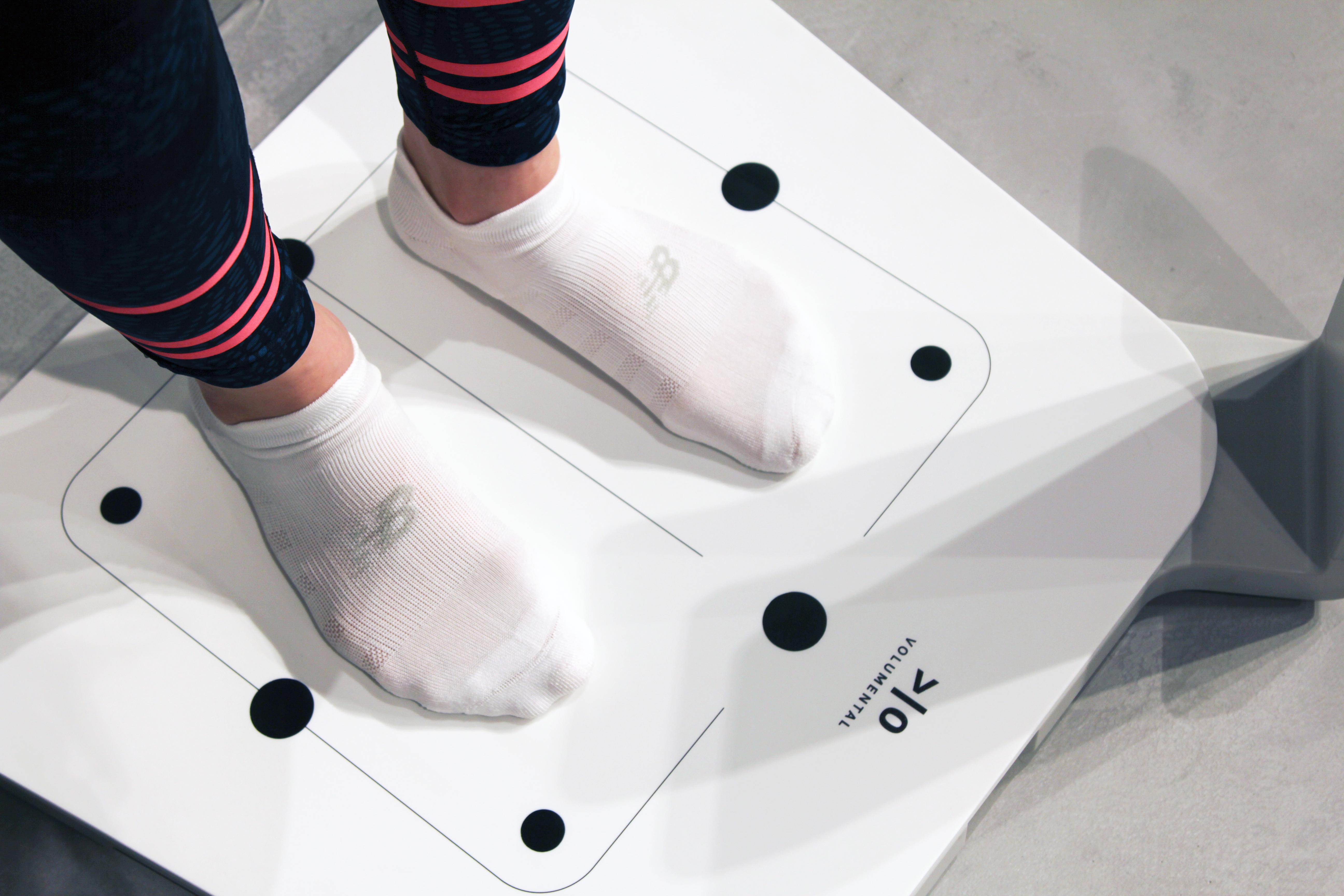 Volumental foot scan in socks