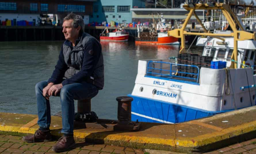 Mike Sharp at the harbour in Brixham, Devon