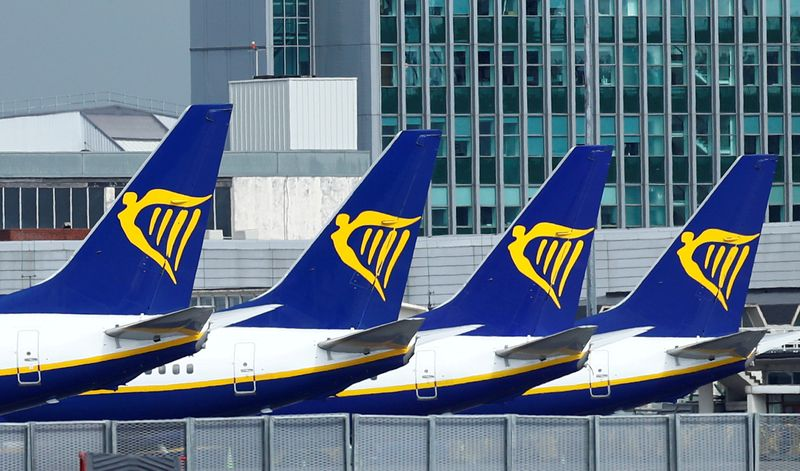 Ryanair hopes for 60-70% of normal traffic this summer