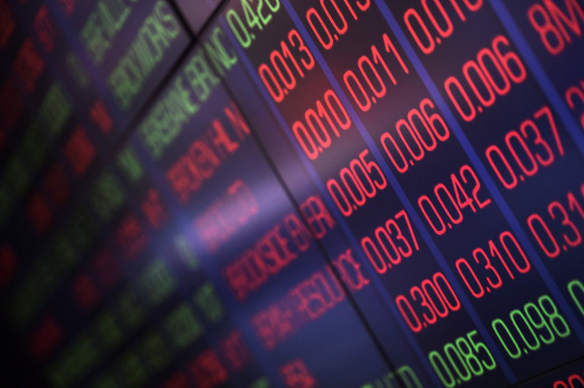 Share prices are displayed at the Australian Securites Exchange in Sydney