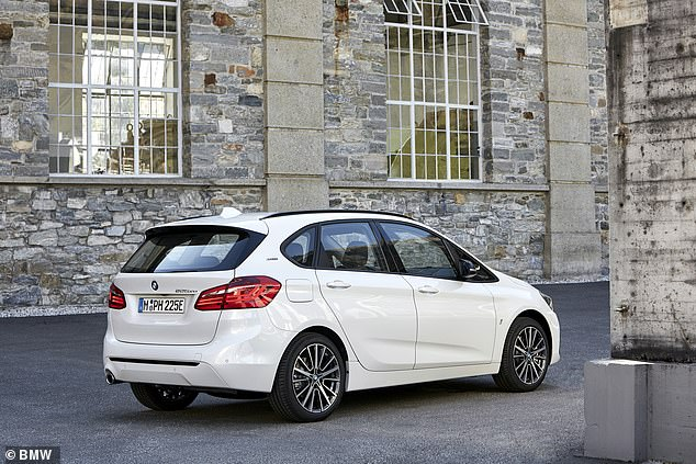 Other poor performers in the consumer watchdog's tests included the BMW 2 Series Active Tourer (pictured) — which was found to be 71 per cent less efficient than claimed