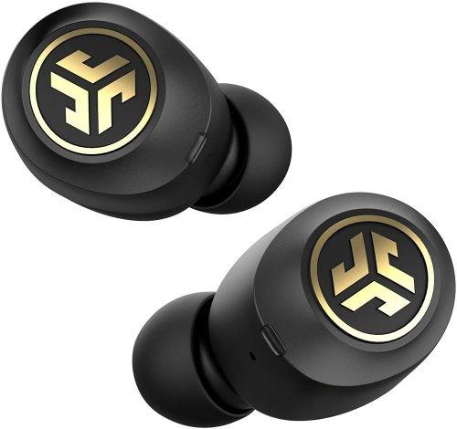 black and gold Jlab Jbuds earbuds