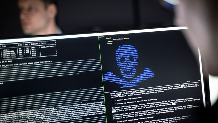 "04 December 2019, Hessen, Darmstadt: IT security scientists are training in the ""Cyber Range"" room in the new ""Athene"" cyber security centre how infiltrated blackmail programs (""Ransomware"") can be rendered harmless. The national research institute of the Fraunhofer-Gesellschaft, the Technical University and the Darmstadt University of Applied Sciences, which has been in existence since the beginning of the year, is intended to help ensure security and the protection of privacy in the face of in"