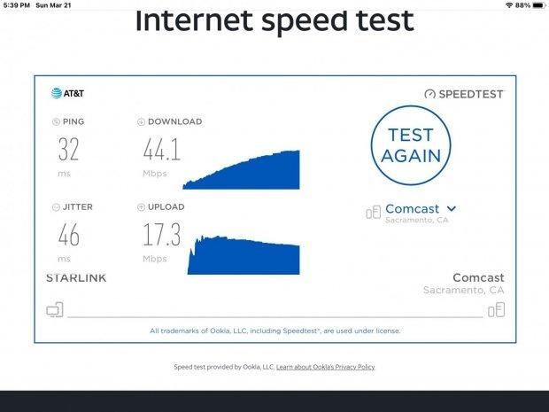 SpaceX's new Starlink internet download speeds breach 200Mbps 02 | TweakTown.com