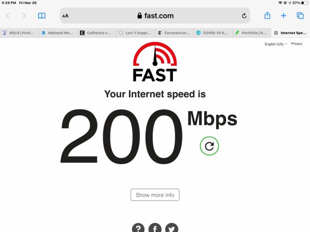 SpaceX's new Starlink internet download speeds breach 200Mbps 01 | TweakTown.com