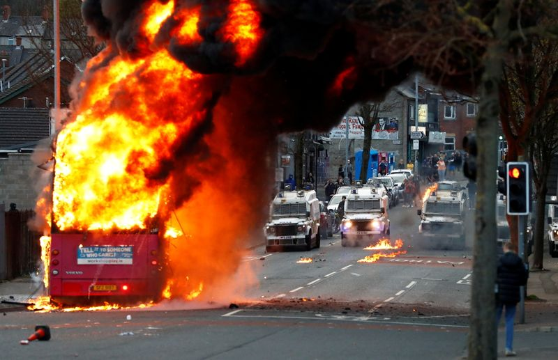 UK deeply concerned by young people's role in Northern Ireland violence