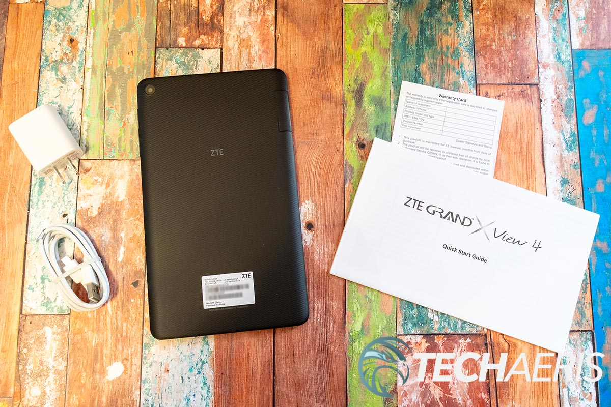 What's included with the ZTE Grand X View 4 Android tablet