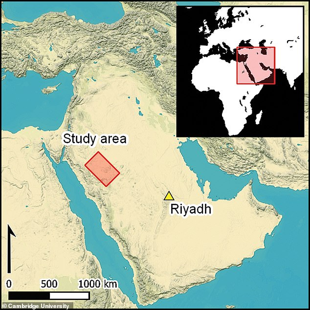 The structures were located in AlUla and Khaybar in northwest Saudia Arabia, about 600 miles from Riyadh
