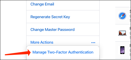 Click Manage Two-Factor Authentication