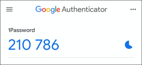 Copy the two-factor authentication code