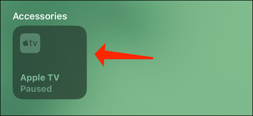 Tap and hold the accessory icon
