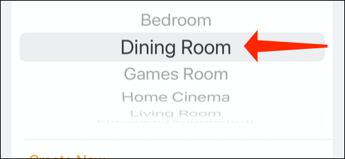 Select any room