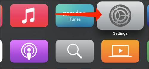 Open Settings on Apple TV
