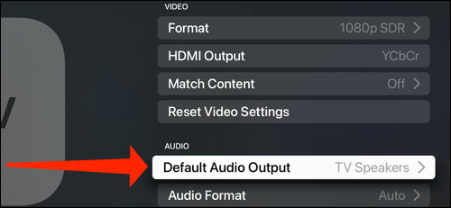 Select Default Audio Output