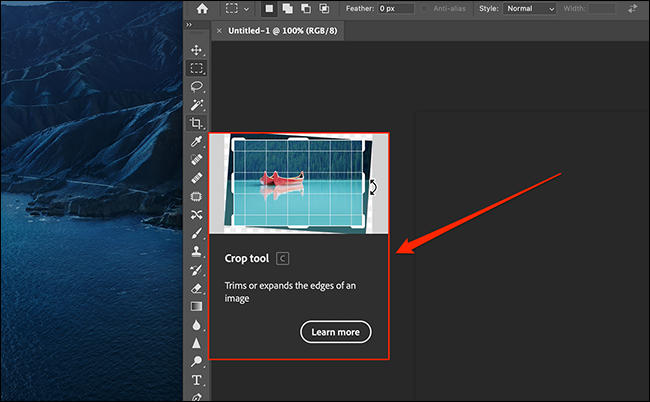 Example of a rich tooltip in Photoshop