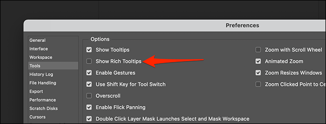 "In Preferences > Tools, uncheck ""Show Rich Tooltips."""