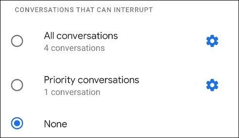 conversations options