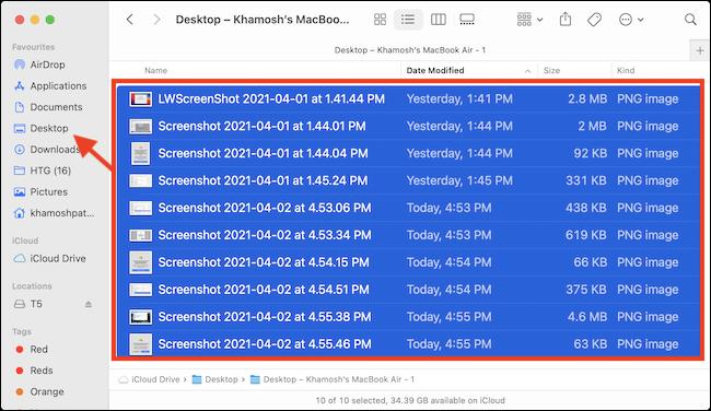 Drag iCloud Drive Data to Local Folders