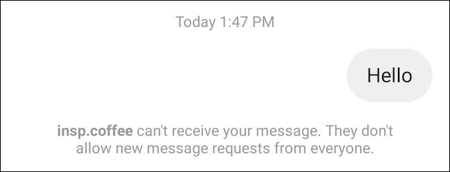 Message Request Disabled on Instagram