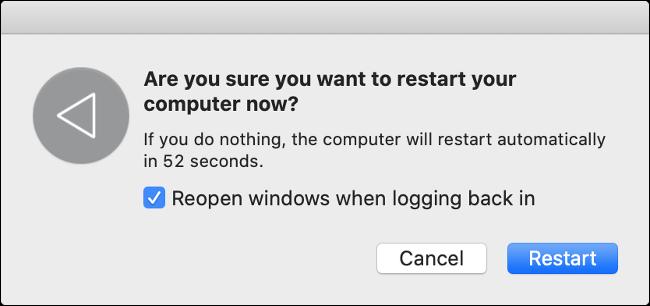 Restarting macOS