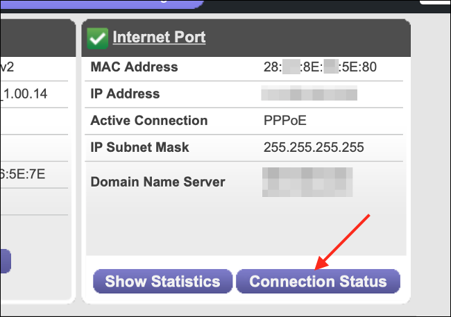 Router Status for Network Connection