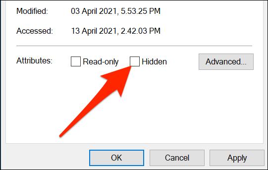"Uncheck ""Hidden"" in the Properties window for a desktop icon."
